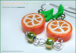 Fruit: Orange Slice Earrings 1