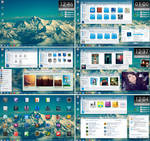 Faenza Extreme Desktop feat. Glass Onion Theme