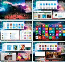 Faenza Desktop  feat. Snowy 8 VS (Win 8.1) by dantenopolis