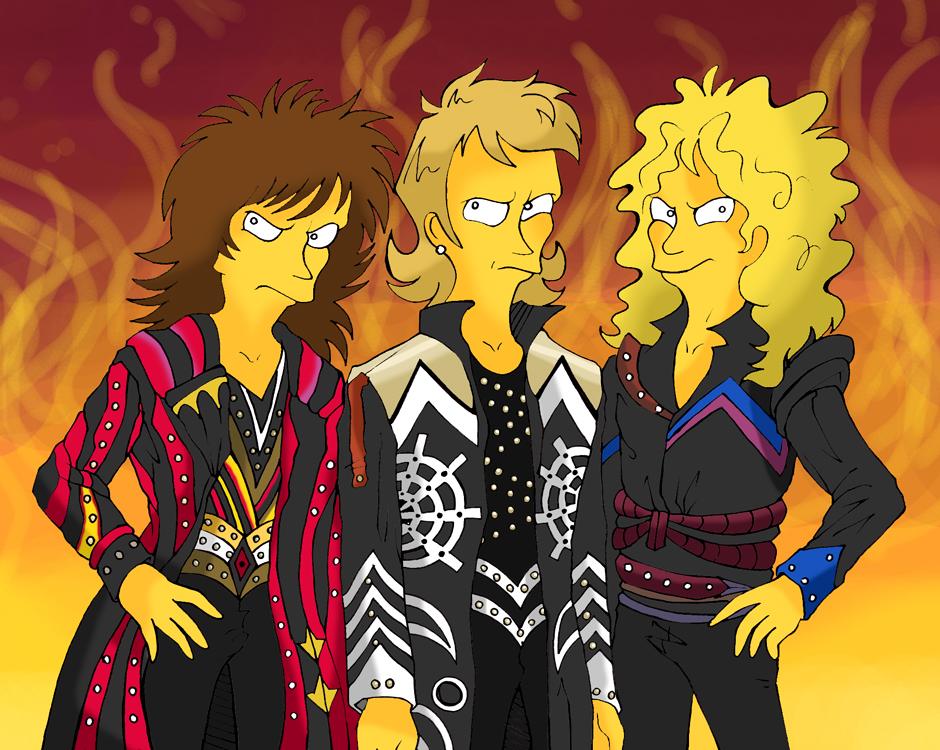Judas Priest in Simpson style by MEISerenade