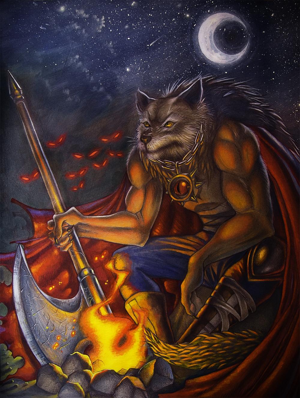 Wolf Warrior Night by MEISerenade
