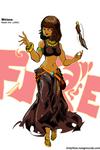 Square-Enix Elemental Ladies : Fire by Tindyflow