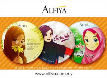 Button Badge Set : Hijab by alfi-ramadhani