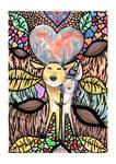 Deer Couple - Watercolor by FerrerasBS