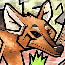 Maned Wolf - Watercolor