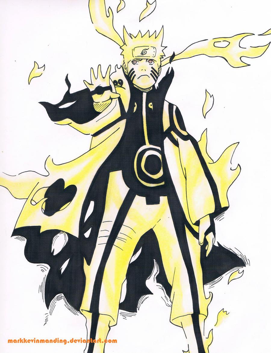 Naruto's enhanced Nine-Tails Chakra Mode by ...