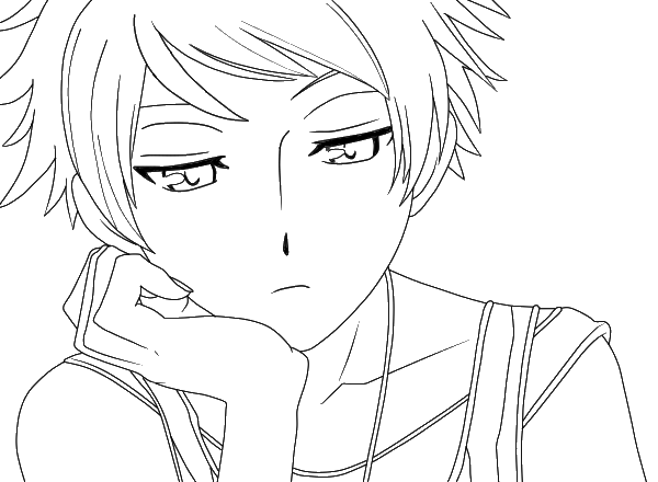 ouran highschool coloring pages - photo#32