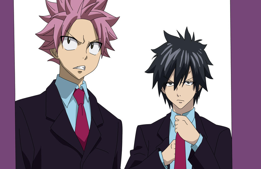 Natsu Dragneel and Gray Fullbuster by CerealFalcon on ...