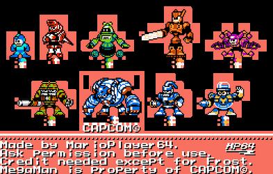 Megaman 8 Cast in 8-Bit