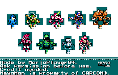 Rockman and Forte Cast in 8-Bit