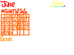 Rainbow month layout