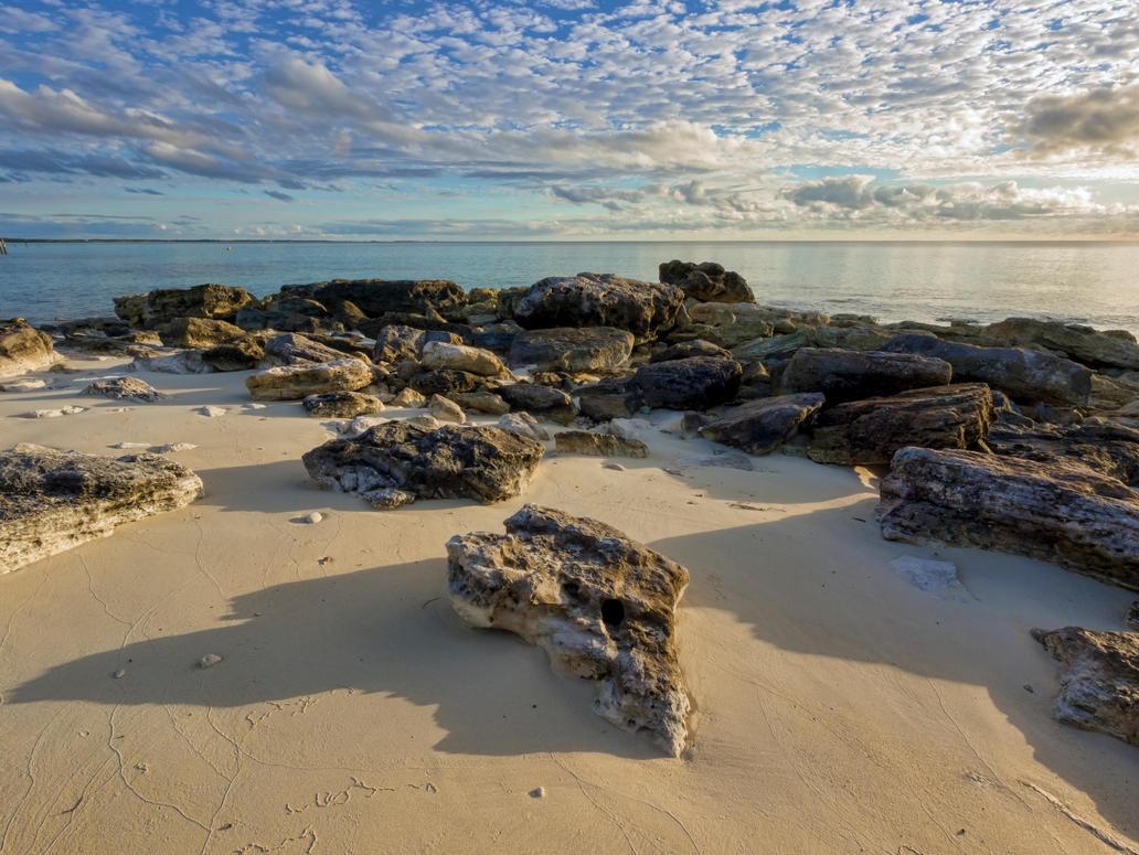 Alto cummulus amongst the rocks by peterpateman