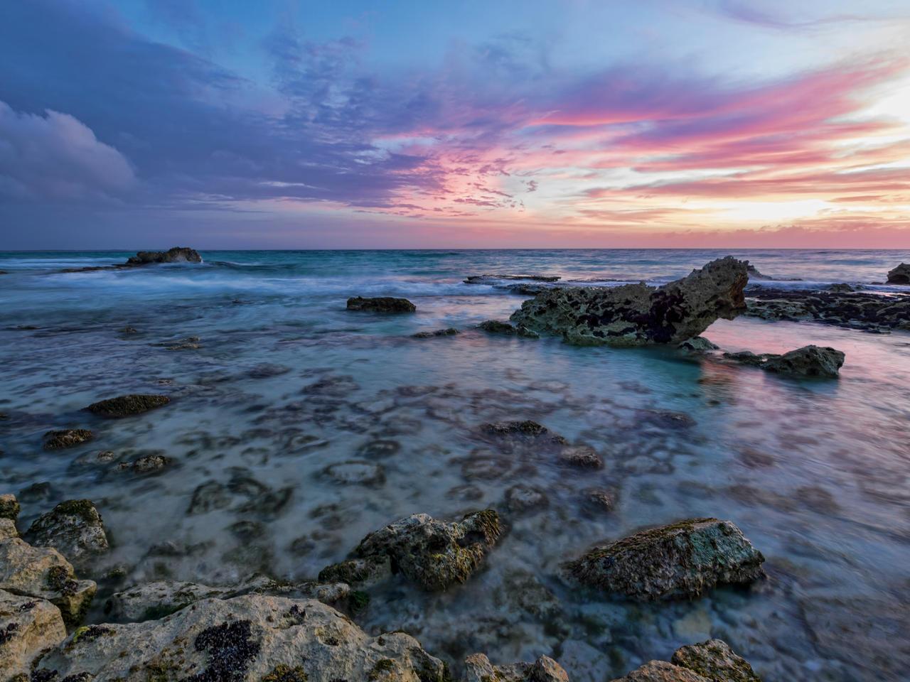January sunset by peterpateman