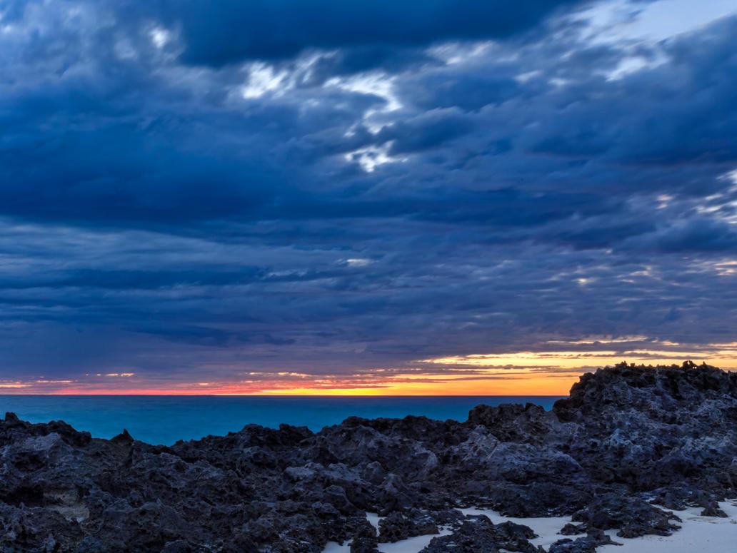 Sharprock sunset. by peterpateman