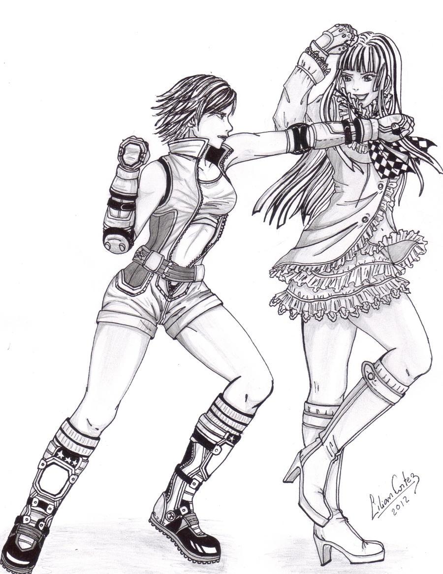 Asuka vs Lili by Ririneko-chan