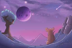 Purple sky by FrostynoTen