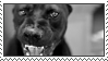 an angry dog stamp by bbagels