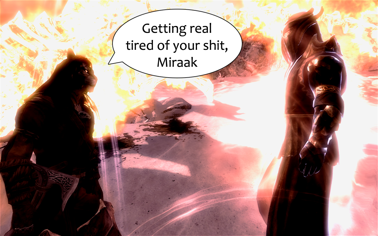 Skyrim - Dragonborn DLC - Miraak the Soul Thief by Alexe-Arts