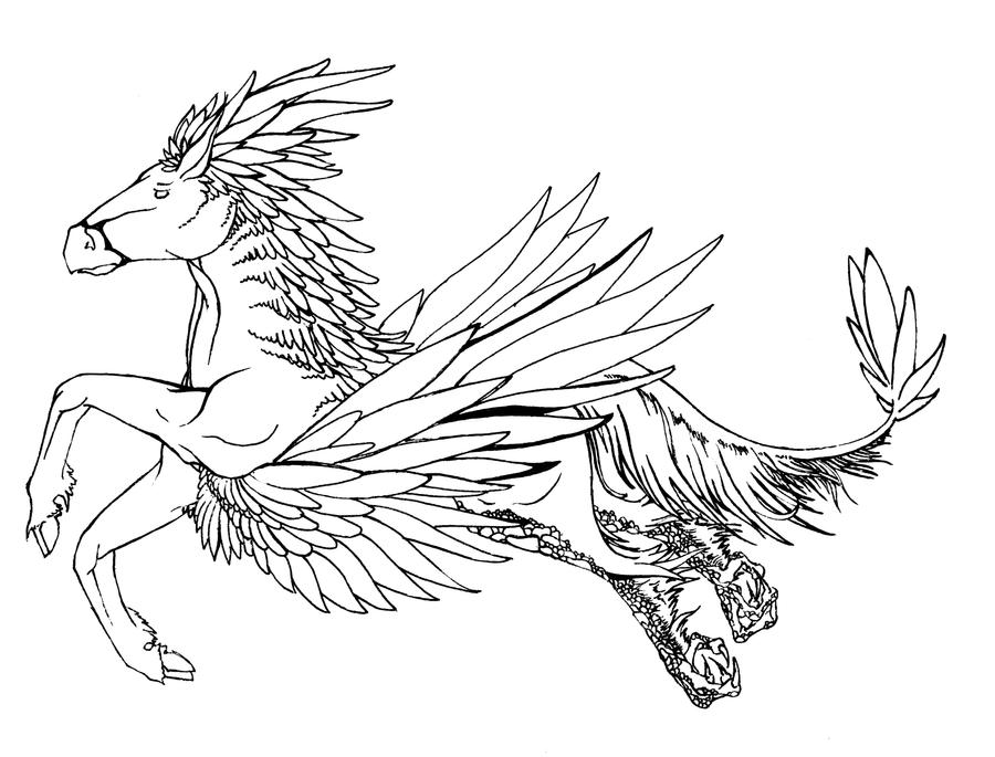 buckbeak coloring pages - photo#28