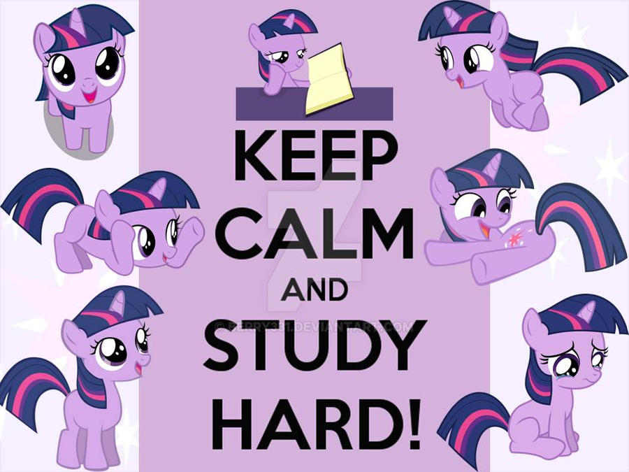 Keep Calm And Study Hard By Berry331