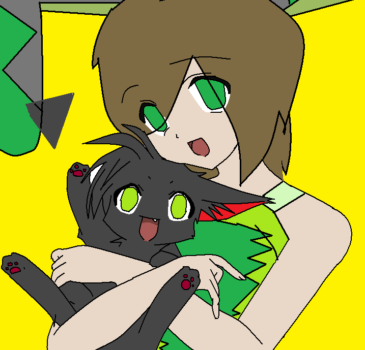 Kama and bunny...cat thingy... by demonsbloodlustX