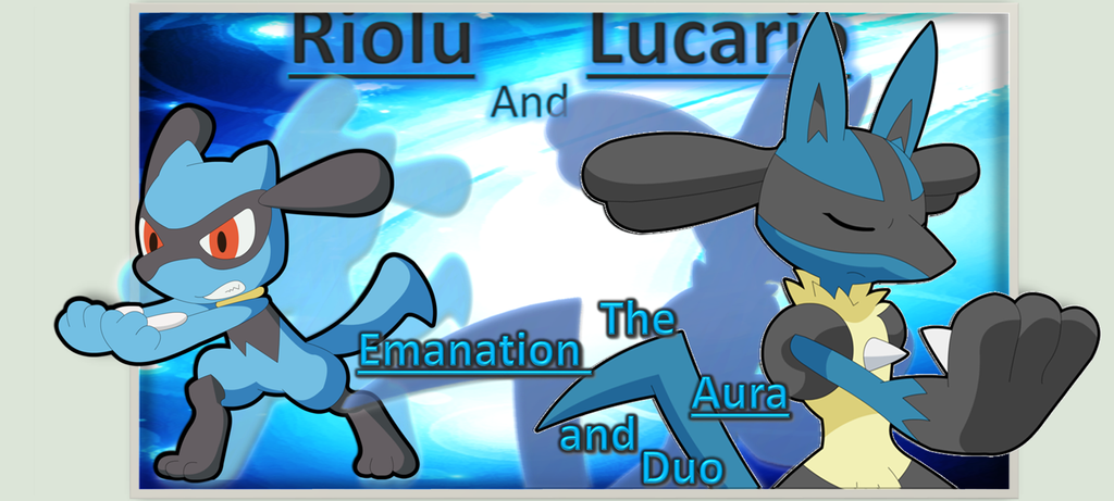 Riolu and Lucario Background by AlicornGamer on DeviantArt