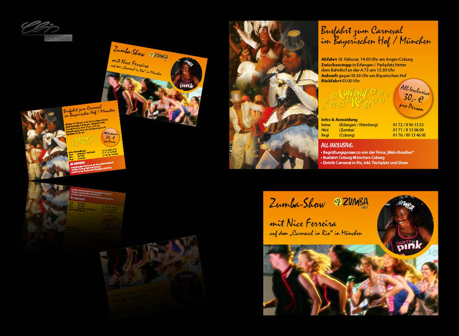 Carneval in Rio 2012 in Munich Flyer by creativeIntoxication
