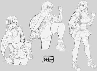 Tifa Lockhart sketch by angelox27