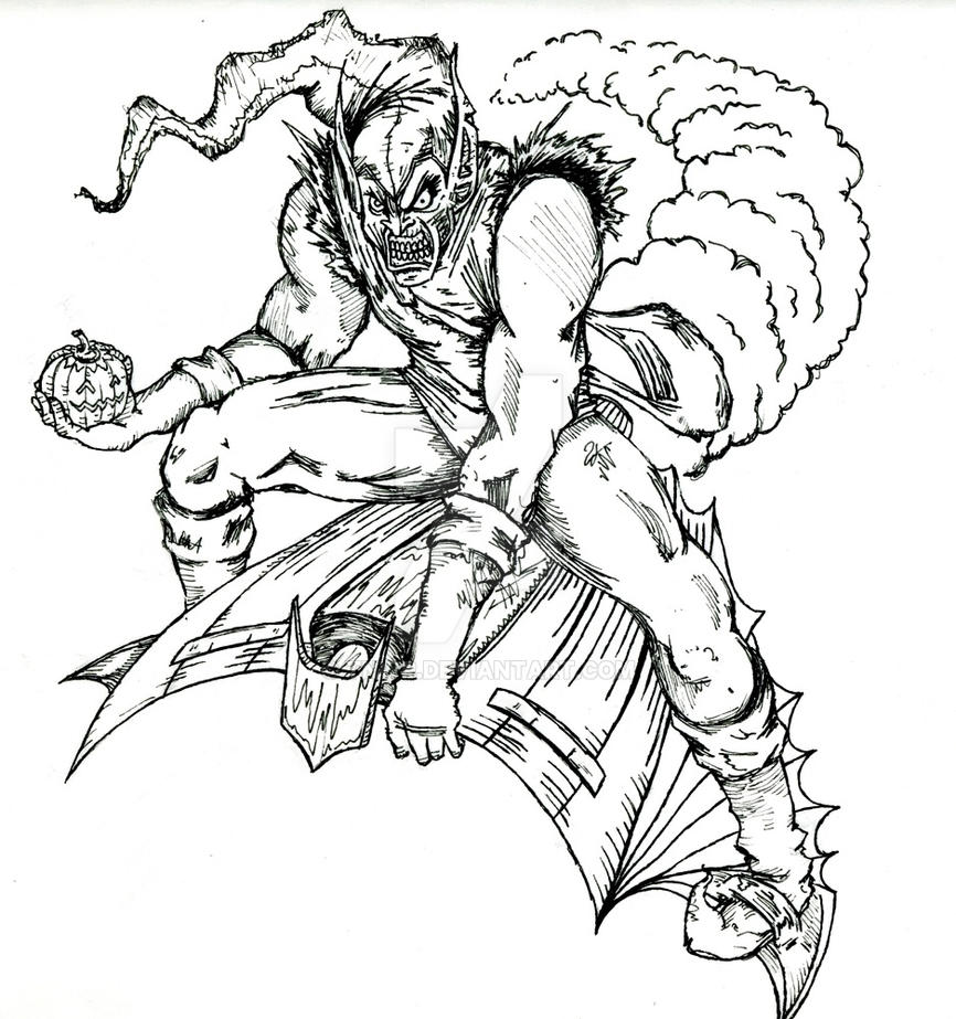 green goblin throwback outline by tnwp on deviantart