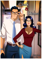 Superman and Wonder Woman - Clark and Diana by GabeCurly