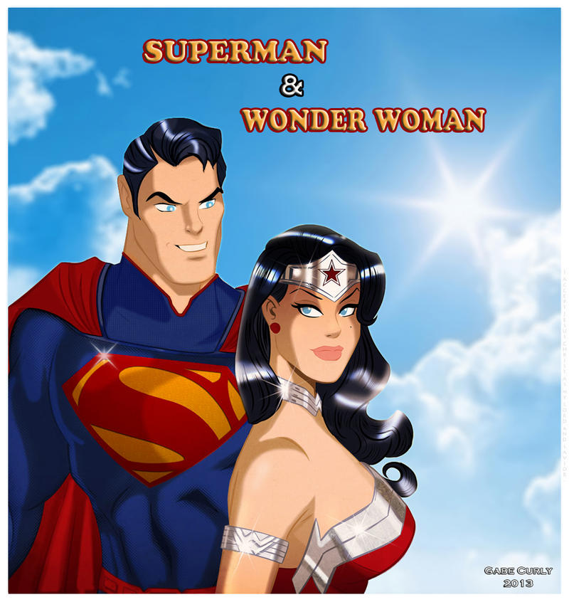Superman and Wonder Woman - The New 52 by GabeCurly