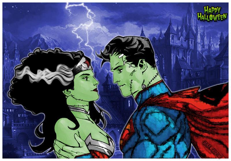 SuperFrank and WonderBride – Happy Halloween – gabecurly