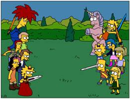 Dissidia: Simpsons Fan Art by Gazmanafc