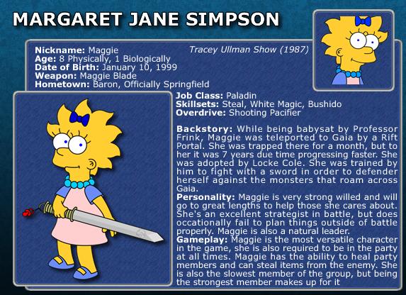 SimpFant - Maggie's Bio by Gazmanafc