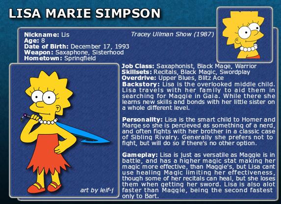 SimpFant - Lisa's bio by Gazmanafc