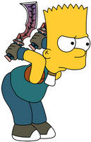 Bart as Zidane Tribal Fail by Gazmanafc