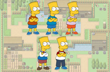 SimpFant - Bart's Outfits by Gazmanafc