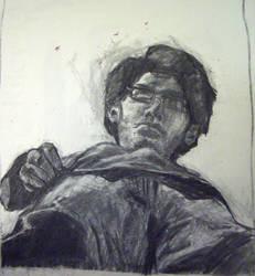 self portrait, floor mirror by Shalune31