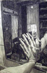hand on mirror