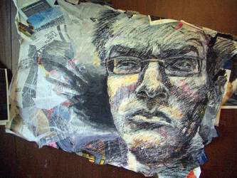 self portrait collage by Shalune31
