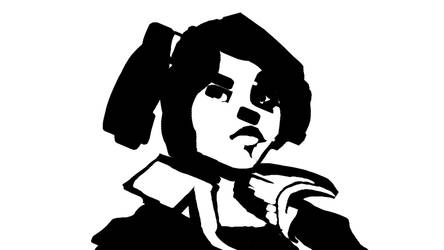 rough sketch, woman