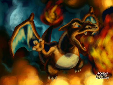 Dracaufeu / Charizard ( with background )