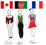 Country Flags as outfits