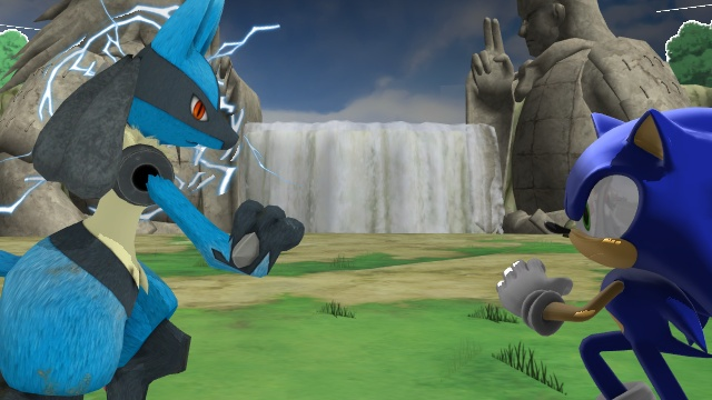 Sonic Vs. Lucario Showdown Naruto style by ChrisWil96