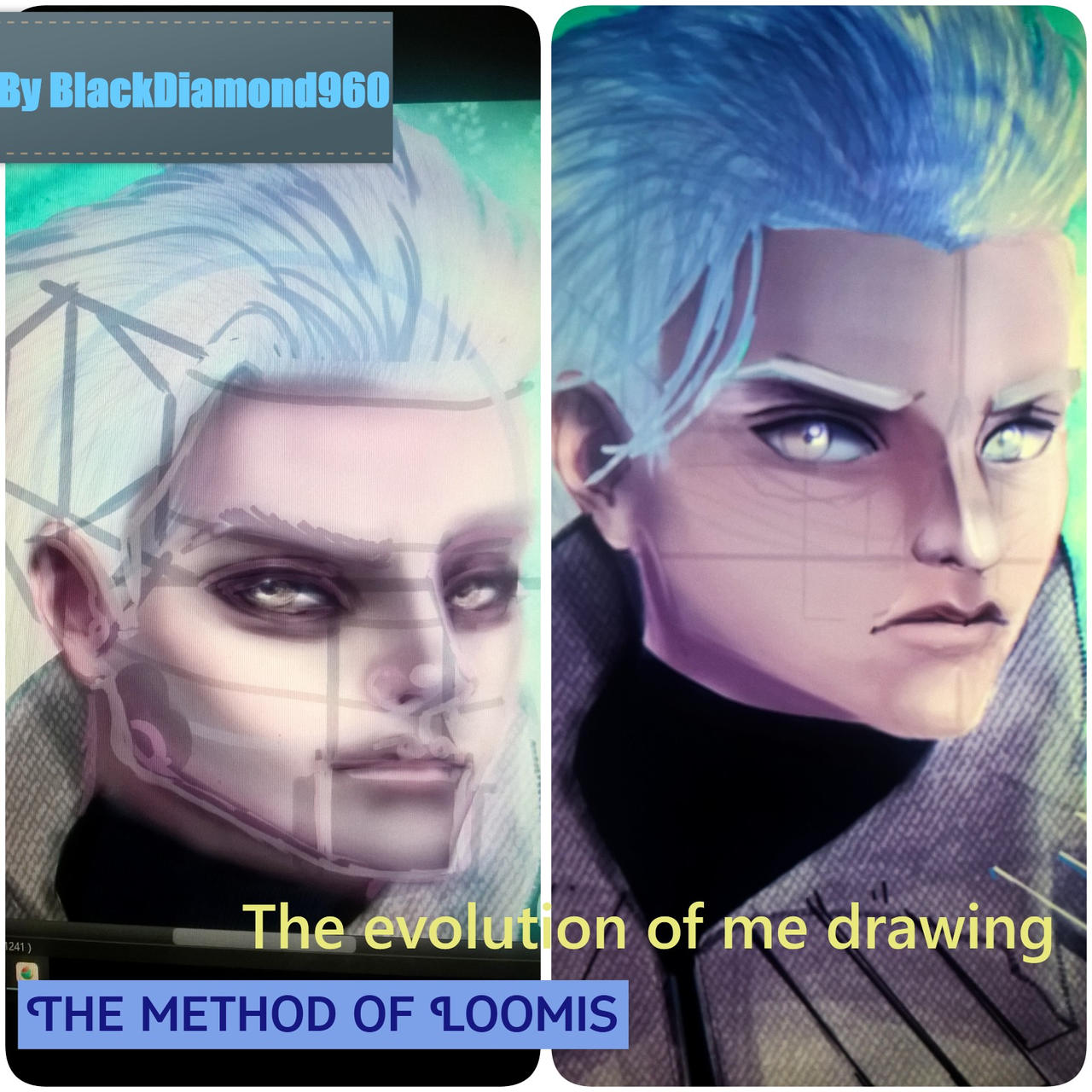 My progress in drawing- the before and after-