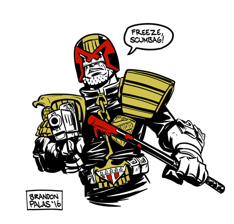 Judge Dredd by BrandonPalas