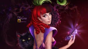 Anastasia, Drizella fanart- Lady Gaga- Nekocuong