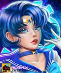 Sailor Mercury fanart by PhoebeLac