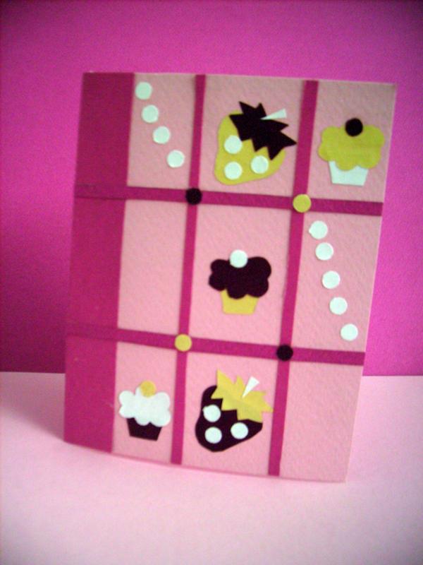 Strawberry-Muffin Card by zuzinka