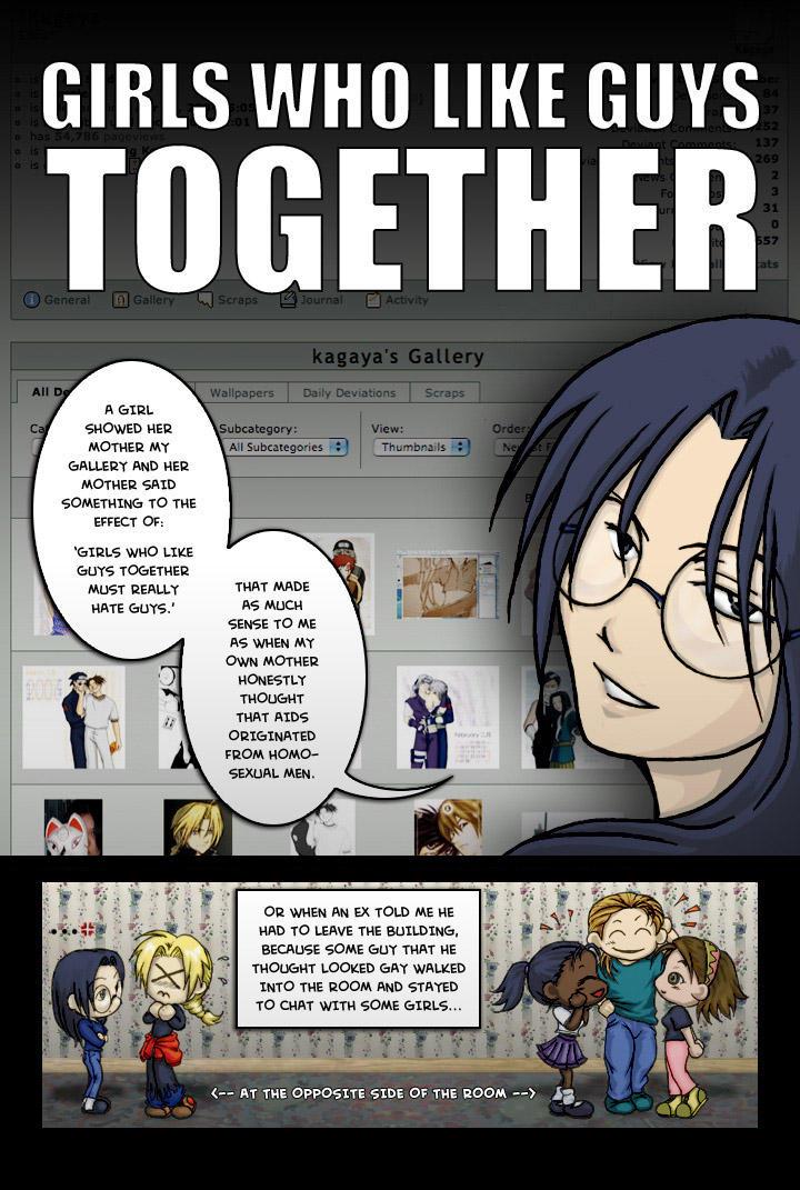 Girls Who Like Guys Together 1